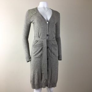 Ralph Lauren silk & cashmere dress w/leather XS S